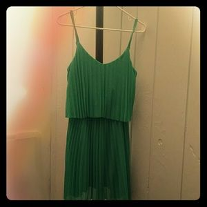 Green/Teal Mid-Length Summer Dress